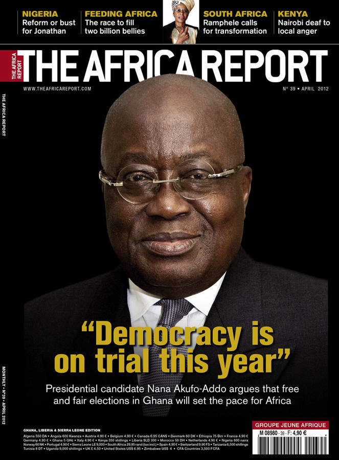 Nana Afuko Addo cover for the Africa Report, 2012 by Sonal Kantaria.