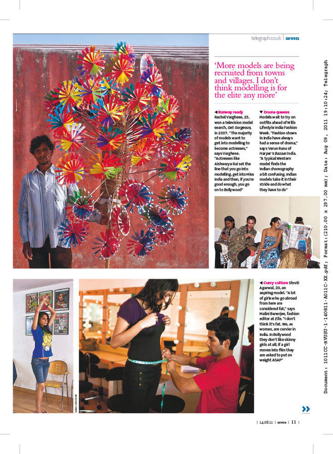 Sunday Telegraph Magazine publication and tearsheet, August 2011.